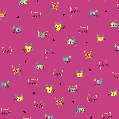 Kitty Cats by QT fabrics, Patchwork Baumwolle