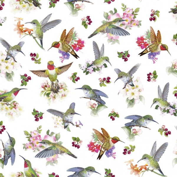 Hummingbird Garden by Quilting Treasures, Patchwork Baumwolle