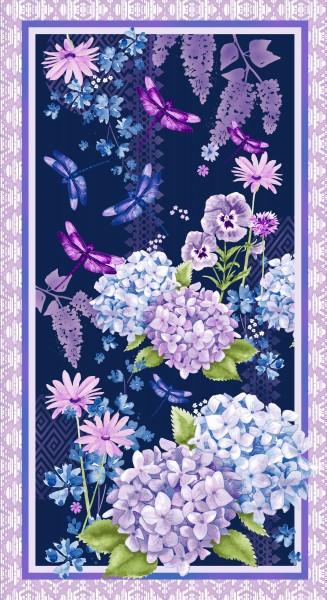 Midnight Hydrangea by Studio E, Patchwork Cotton