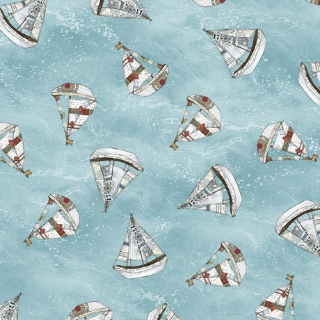 Set Sail by Quilting Treasures, Patchwork Cotton