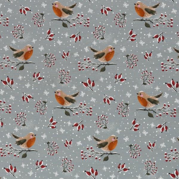 Lovely Robin by Christiane Zielinski, Jersey Baumwolle