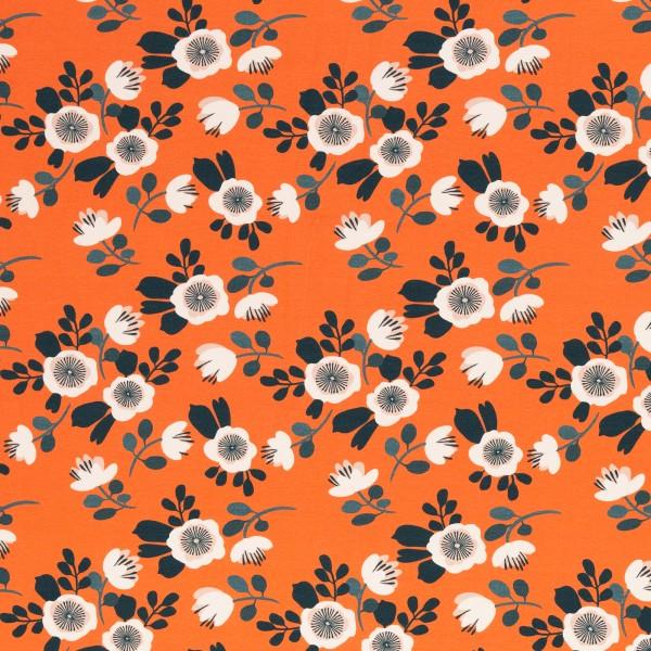 Flowers, Jersey Baumwolle