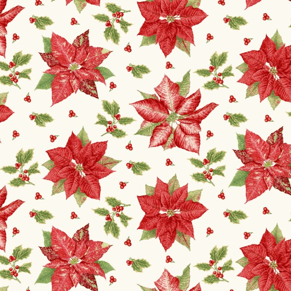 Holiday Botanical by Henry Glass, Patchwork Cotton