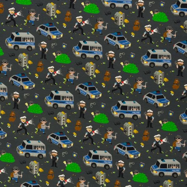Gangsterjagd by Sandra Kretzmann, Cotton Jersey