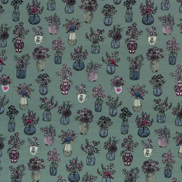 All my Flowers by Lila-Lotta, French Terry