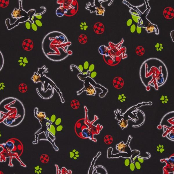Miraculous Geschichten von Ladybug und Cat Noir, Jersey Baumwolle