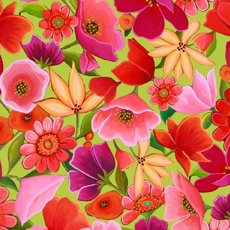 Wild Beauty by Quilting Treasures, Patchwork Baumwolle