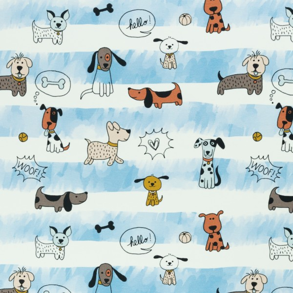 Funny Dogs, Jersey Baumwolle