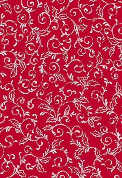 Pretty Poinsettias by Quilting Treasures, Patchwork Cotton