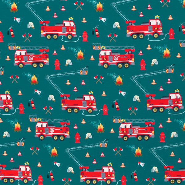 Feuerwehr, Tatütata by Sandra Kretzmann, Jersey Baumwolle