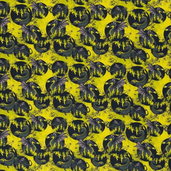 Mystic Dragons by Steinbeck, Baumwolle Webware