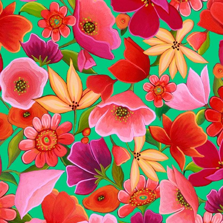 Wild Beauty by Quilting Treasures, Patchwork Cotton
