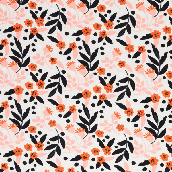 Flowers, Cotton Jersey