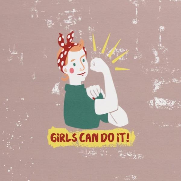 Girls can do it by Käselotti, Jersey Baumwolle