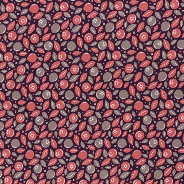 Blueberry Crush by lycklig design, Cotton Jersey