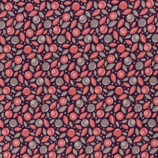 Blueberry Crush by lycklig design, Jersey Baumwolle