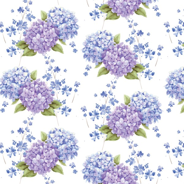 Midnight Hydrangea by Studio E, Patchwork Cotton